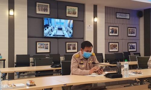 """คบ.น้ำก่ำ """"คบ.น้ำก่ำ เข้าร่วมประชุมติดตามและวิเคราะห์แนวโน้มสถานการณ์น้ำ  ในรูปแบบประชุมทางไกลผ่านระบบเครือข่าย Video Conference"""